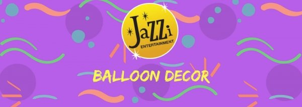 Jazzi shows and services gallery banner balloon decor