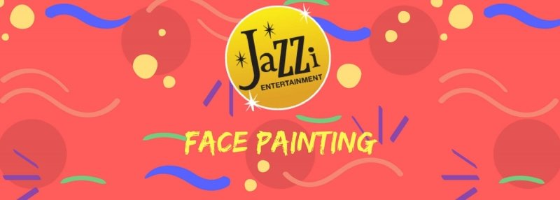 Jazzi shows and services gallery banner face painting