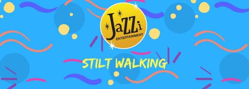 Jazzi shows and services gallery banner stilt walking