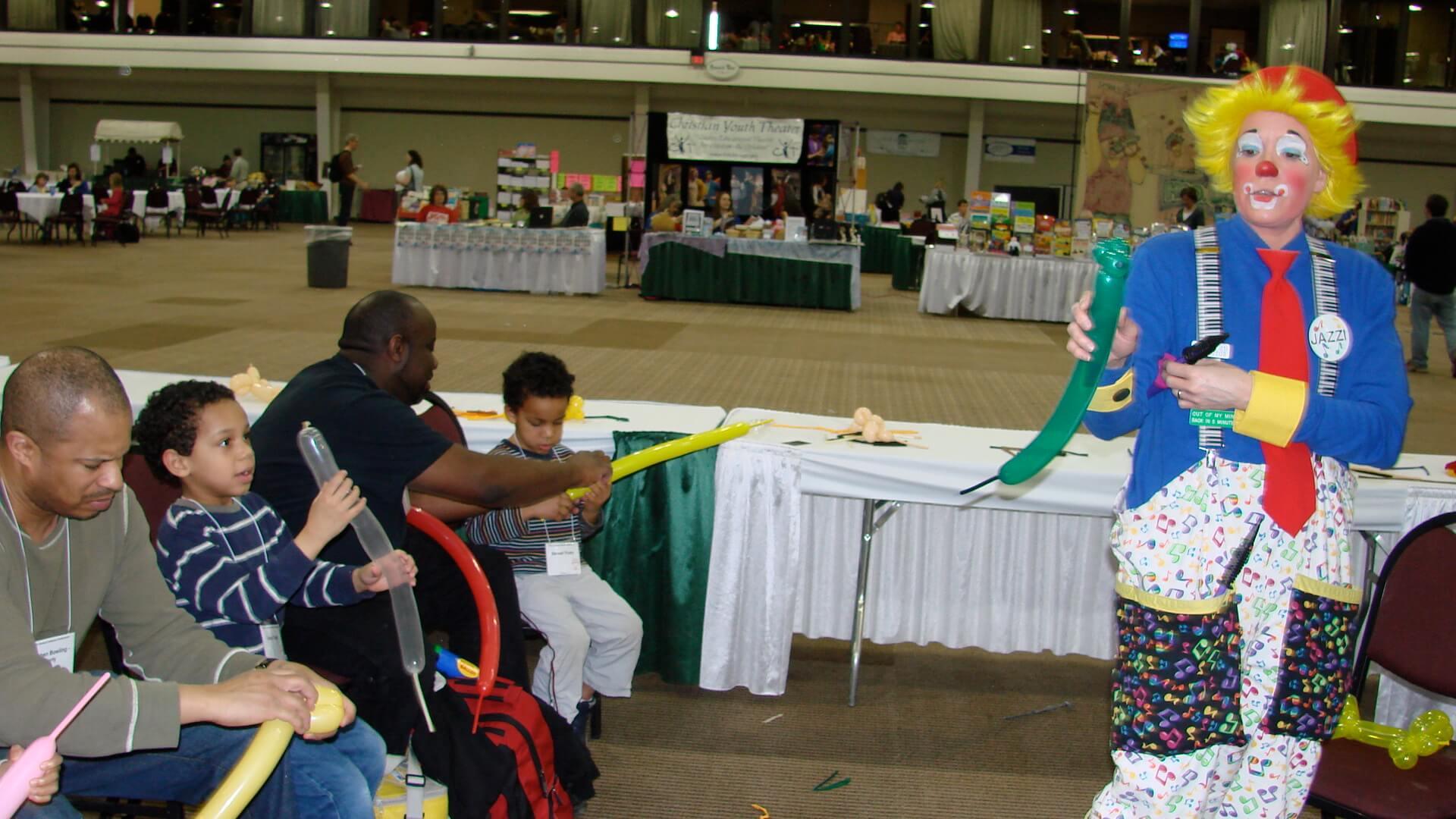 jazzi shows balloon twisting workshop